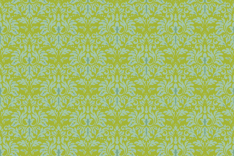Chartreuse_Spice_Damask fabric by kelly_a on Spoonflower - custom fabric