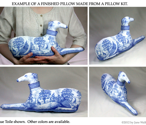 Blue Toile Greyhound Home Decor kit ©2011 by Jane Walker
