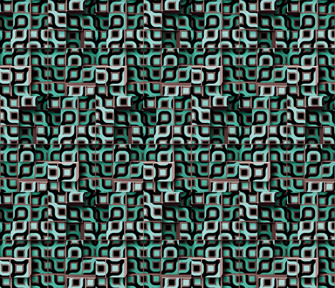 Circle Cubes 4 fabric by animotaxis on Spoonflower - custom fabric