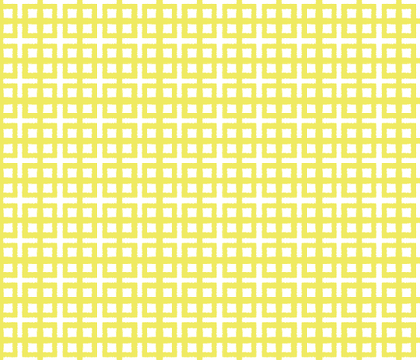 BLOC TRELLIS- chartreusey yellow fabric by marcador on Spoonflower - custom fabric