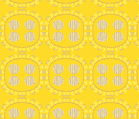 Yellow Circle fabric by slumbermonkey on Spoonflower - custom fabric