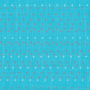Blue Ikat Stars