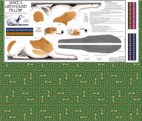 Greyhound Sewing Project list ©2011 by Jane Walker fabric by artbyjanewalker on Spoonflower - custom fabric