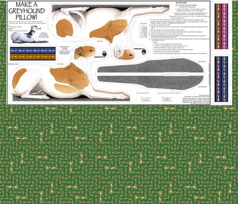 Greyhound Sewing Project list ©2011 by Jane Walker fabric by artbyjanewalker on Spoonflower - custom fabric