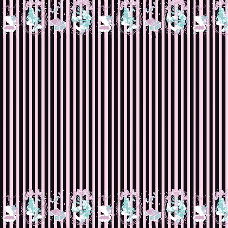 Pretty Angelic Mermaids Black and Pink fabric by shadow-people on Spoonflower - custom fabric