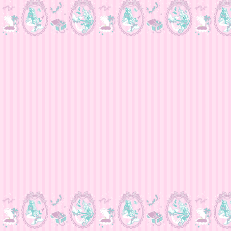 Pretty Angelic Mermaids Pink fabric by shadow-people on Spoonflower - custom fabric