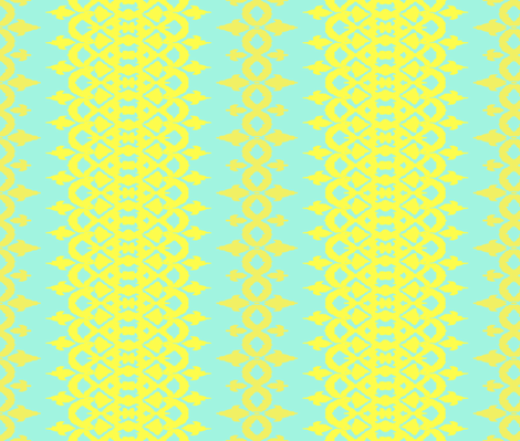 ISLA - aqua, lemon + goldenrod fabric by marcador on Spoonflower - custom fabric