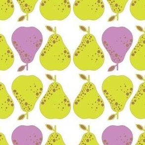 Lime purple pear