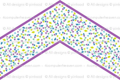 Chevron Triangled Bliss - Grapetastic! - Exceptional Skyline - © PinkSodaPop 4ComputerHeaven.com