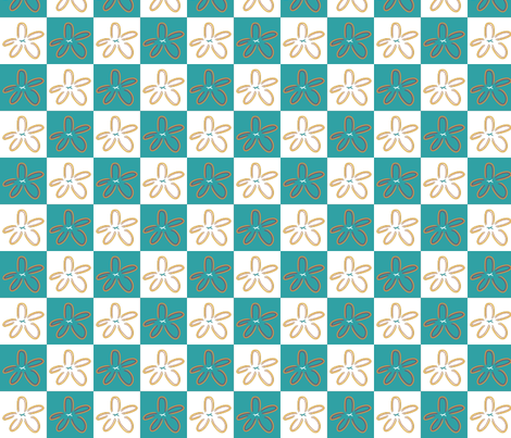 Teal Starfish fabric by emily_caraballo on Spoonflower - custom fabric