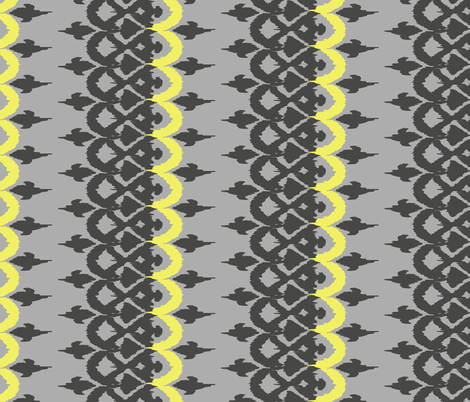 OROZCO - grey and icy lemon fabric by marcador on Spoonflower - custom fabric