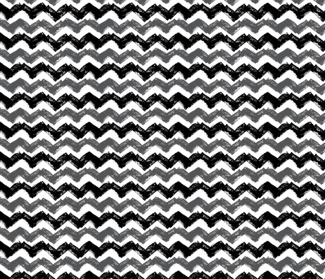 Black and White Chevron stamp Pattern fabric by emily_caraballo on Spoonflower - custom fabric