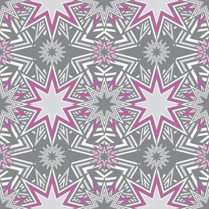 Stars Mosaic pink