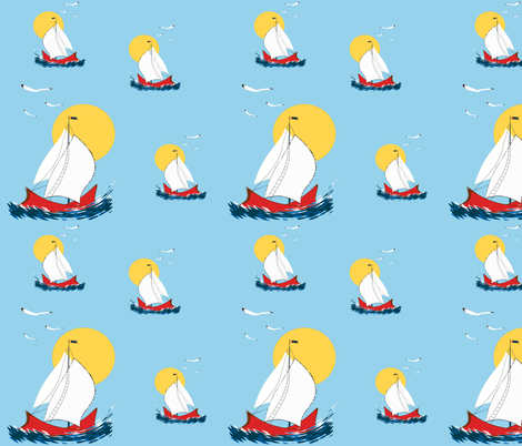 Sailing fabric by retroretro on Spoonflower - custom fabric