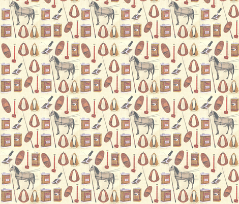 Harness Tack fabric by ragan on Spoonflower - custom fabric
