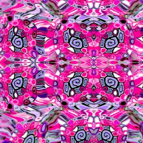 Cane Fabric-fuschia