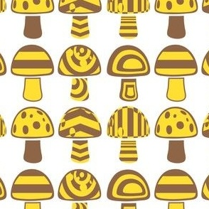 Brown yellow mushroom