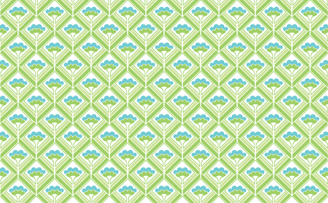bouquet green fabric by myracle on Spoonflower - custom fabric