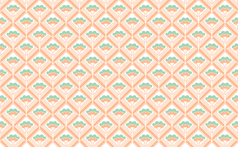 bouquet salmon fabric by myracle on Spoonflower - custom fabric