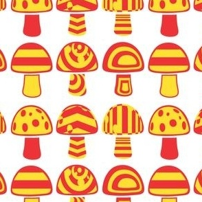 Red yellow mushroom