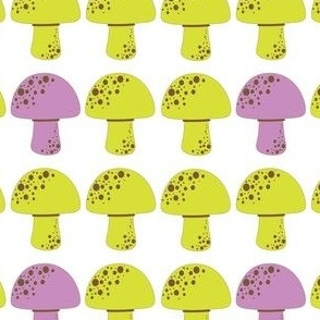 Lime purple mushroom