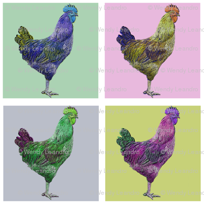 Chicken a la Warhol
