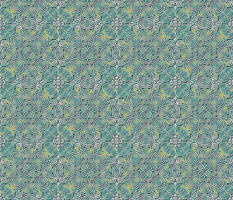Extrusion silver/green_ fabric by koalalady on Spoonflower - custom fabric