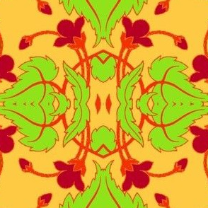 Art Nouveau40-orange/green