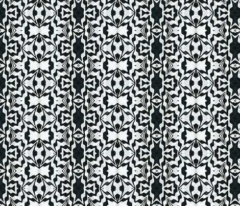Liquid  Polymer Clay Stripe-black and white fabric by koalalady on Spoonflower - custom fabric