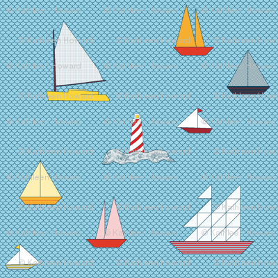 Sail_boats_and_light_house_colored_patterns