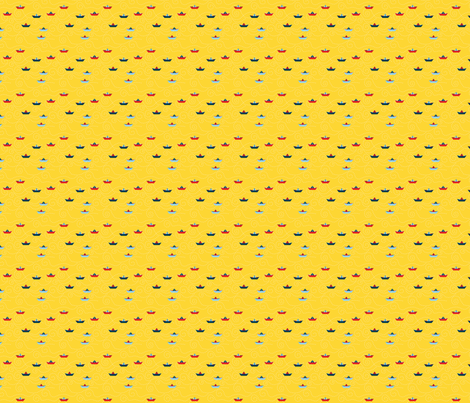 paper_s_boat__jaune_S fabric by nadja_petremand on Spoonflower - custom fabric