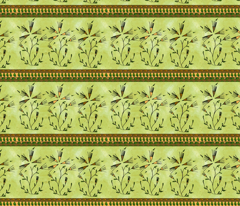 Gypsy Dandelions?  fabric by joojoostrees on Spoonflower - custom fabric