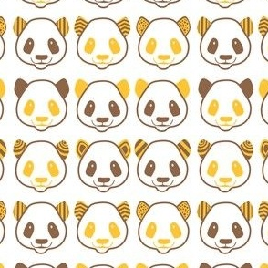 brown yellow panda