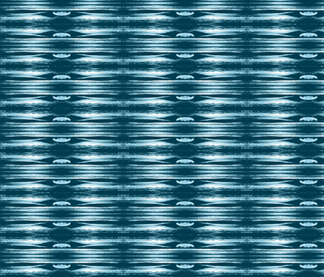 blue wave fabric by walkwithmagistudio on Spoonflower - custom fabric