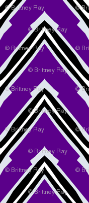Purple and Black Capped Chevron