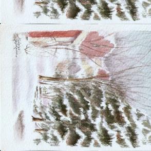 Winter Tree Scene_Adelaide Watercolor