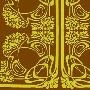 Art Nouveau3-green/brown