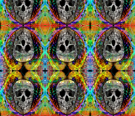 skull of frivolity fabric by charrmer on Spoonflower - custom fabric