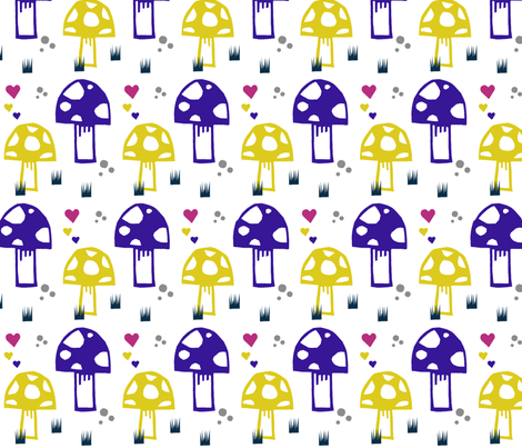 mushroomnew fabric by modern_day_magpie on Spoonflower - custom fabric
