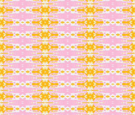 Kinshasa in the Dry Season-pink and orange 3 fabric by susaninparis on Spoonflower - custom fabric