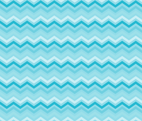 Aqua and White Chevron fabric by peacefuldreams on Spoonflower - custom fabric