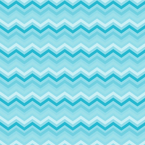 Aqua and White Chevron
