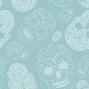 Blue Sugar Skulls