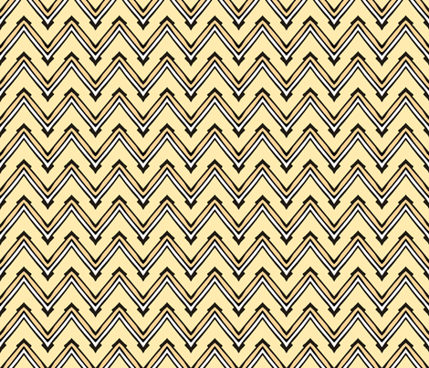 Yellow and White Capped Chevron fabric by pond_ripple on Spoonflower - custom fabric