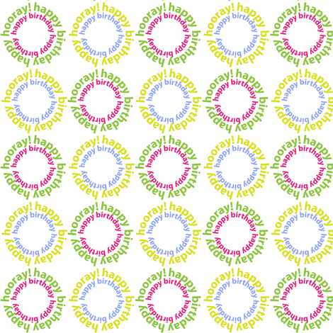 Birthday fabric by thelittleengine on Spoonflower - custom fabric