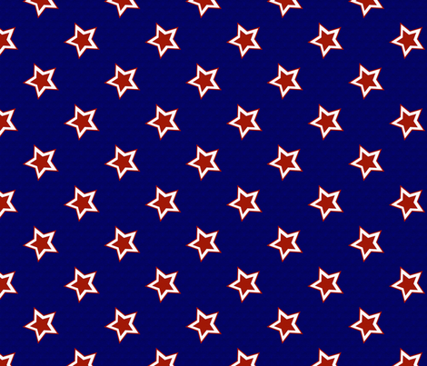 Patriotic Stars fabric by peacefuldreams on Spoonflower - custom fabric