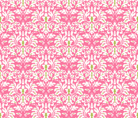 Hot_Pink_Damask fabric by kelly_a on Spoonflower - custom fabric