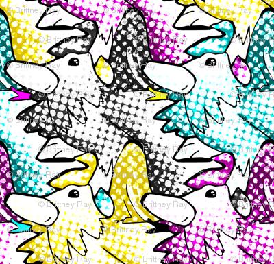 CMYK Rooster Pop