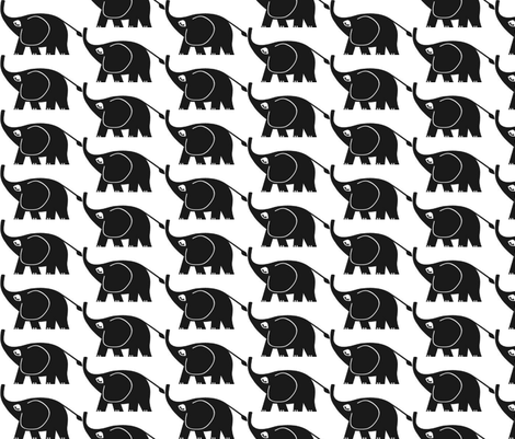 elephant on parade 2 fabric by mezzime on Spoonflower - custom fabric