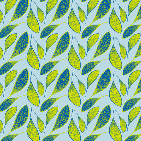 Leaves fabric by twobloom on Spoonflower - custom fabric